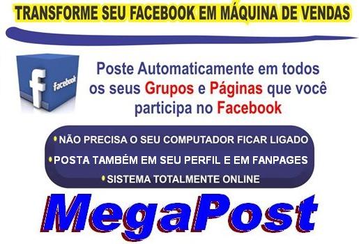 Postagem AUTOMÁTICA no Facebook, Grupos, Páginas, Perfis, etc...