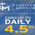 PROFITABLE MORROWS Investimentos, até 4,5% de Rendimentos Diariamente!