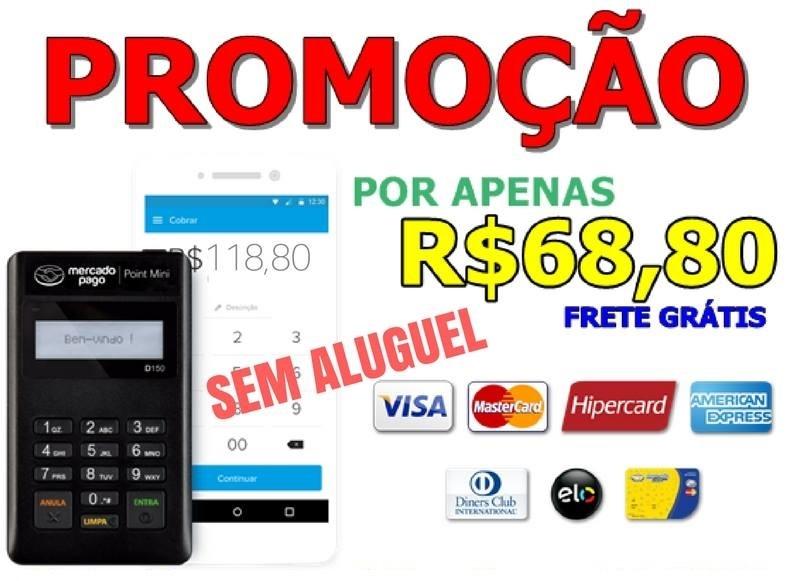 PROMOÇÃO! Maquininha MercadoPago Point Mini por apenas R$68,00 ou em até 12x de R$5,73 Sem Juros!